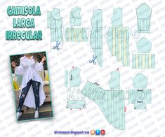 Dress Sewing Patterns, Doll Clothes Patterns, Sewing Patterns Free, Sewing Clothes, Vintage Patterns, Clothing Patterns, Diy Clothes, Diy Fashion Hacks, Cosplay Tutorial