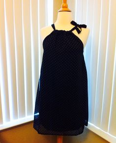 Cute lovely #polka dot #chiffon #mini #dress,  wear it with red lipstick! http://etsy.me/1DvjvqX