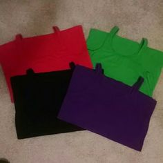 Lot of 4 Tanks - Listing is for all 4 Old Navy tanks in good used condition. This listing is for all 4 tanks in purple, black, red, and black. Old Navy Tops Tank Tops
