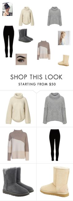 """""""December 16, 2017- Outfit of the Day"""" by purple-811 ❤ liked on Polyvore featuring Amandine, French Connection, River Island, UGG and sweaterweather"""