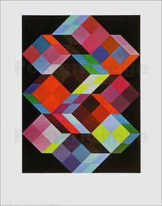 Tridem K Kunstdruck von Victor Vasarely günstig bestellen