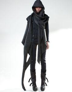 B L V C K Female Fashion Avante Garde http://www.store.demobaza.com/