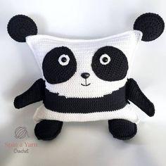 Crochet Bear Panda - Hi, friends! New pattern alert! It's another ragdoll plushie pattern, of course. This time a panda! Crochet Panda, Crochet Bear, Cute Crochet, Beautiful Crochet, Crochet Dolls, Pikachu Crochet, Yarn Animals, Crochet Animals, Plushie Patterns