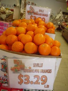 Seville marmalade oranges, back in stock this week! Get yours today - the season is almost over for these! While supplies last.