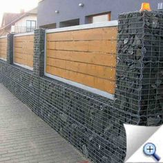 gabion timber fence