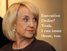 Love Jan Brewer. Need more Americans like her. Jan is tough & stands up for what is right!!  Obama & the Democratic Party could take a CHAPTER from her book! BLESS YOU & THANK YOU JAN! Jan brewer a TRUE AMERICAN!