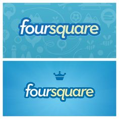 The old and new Foursquare logo