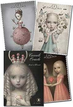 Celebrated illustrator Nicoletta Ceccoli draws in a style of provocative enchantment. These oracle cards provide insight into complex questions, where the dark mingles with the light and reveals the s