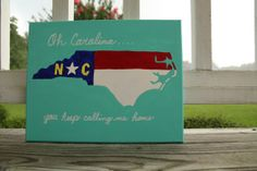 North Carolina State Flag Inspired Canvas by TheCarolinaCanvas, $25.00