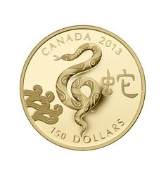 Snake coin design by Aries Cheung for Royal Canadian Mint Canadian Coins, Coin Design, Gold And Silver Coins, Serpent, Coin Collecting, Aries, Jewels, Personalized Items, Louisiana