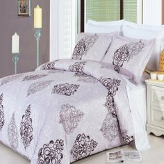 """Gizelle 8-piece Full Bed-in-a-Bag 100 % Egyptian Cotton 300 Thread Count by Royal Hotel by Royal Hotel. $154.99. Luxury Gizelle 8-pc Full Size Bed-in-a-Bag include Colors Lt Grey and Chocolate. Machine wash in cold water with similar colors. Tumble dry low. Do not bleach. 1- Duvet Cover 90x92"""" & 2- Pillow Shams 20x26"""" W/ Button Closer.. 1 Flat Sheet (81""""x 96"""") 1 Fitted Sheet (54"""" x 75"""") & 2 Standard PillowCases (20"""" x 30"""") ( White Color). 1 Down Alternative Comforter (White) (90""""..."""