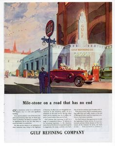 Old gas stations Old Advertisements, Car Advertising, Standard Oil, Old Gas Stations, Oil Industry, Vintage Ads, 1930s, Retro, Canvas