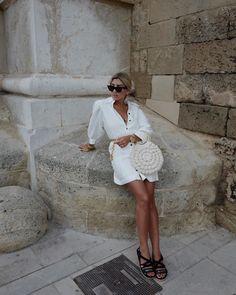 Get the bag for at Net A Porter - Wheretoget Coat Dress, Jacket Dress, Yves Saint Laurent, Summer Outfits, Summer Dresses, Romper Pants, Street Style Summer, Blouse Outfit, Ulla Johnson