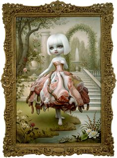 Mark Ryden - The Gay - Olde Tyme Art Show - Incarnation Mark Ryden, Arte Lowbrow, Arte Peculiar, Max Ernst, Arte Horror, Surreal Art, Oeuvre D'art, Girl Cartoon, Kitsch