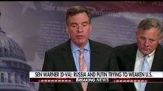 """Outside foreign adversary effectively sought to hijack our most critical democratic process – the election of a president. And in that process, decided to favor one candidate over another … Vladimir Putin's goal is a weaker United States,"" Senator Mark Warner, vice chairman of the Senate Select Committee on Intelligence, said during a presser moments ago.  The committee will hold a public hearing on Russia's interference in the 2016 election on Thursday. http://fxn.ws/2obRMcC"