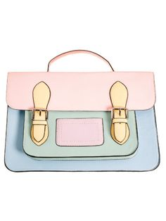 This pastel satchel would give a subtle pop to any outfit!