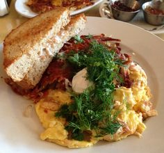 Blackbird Cafe, Minneapolis.  Favorite dishes: Norske scrambler, toast, build-your-own frittata