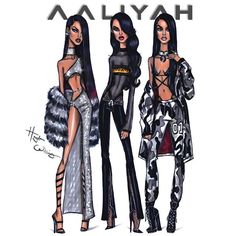 #Aaliyah x3 by Hayden Williams. Which look is your fave?  #HappyBirthdayAaliyah