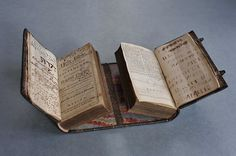 "This is a clever book from the 18th century, printed in Oxford in 1756. It presents both the Old and New Testament, although the books are not bound together the regular way, behind one another. Instead, the binder opted to place them next to each other. This very rare binding technique is part of a family that includes the dos-à-dos (or ""back to back"") binding, which I blogged about before (here). Having the two testaments bound this way allowed the reader to consult passages from both ..."