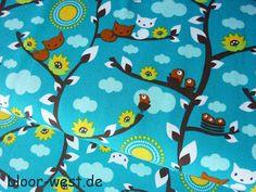 Lillestoff Stretchjersey  Springcats Türkis