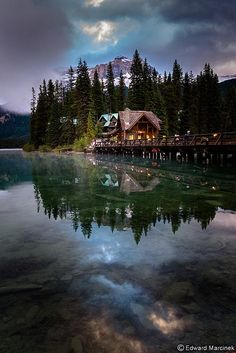 Reflections at Emerald Lake, Yoho NP, Canada how gorgeous is THIS?!