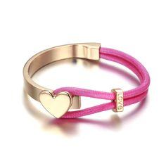 18k gold bracelet pink and gold color