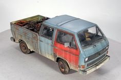 Truck Camper Shells, Transporter T3, Vw Bus T1, Truck Scales, Day Van, Military Modelling, Rc Model, Train Layouts, Military Art