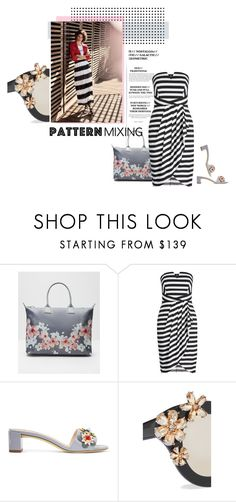 """""""#patternmixing"""" by vinograd24 ❤ liked on Polyvore featuring Ted Baker, LIU•JO, Fendi, Alice + Olivia and patternmixing"""