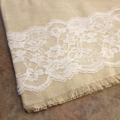 6 in x 10 yd. Lace Roll White for Weddings