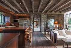 """1800s dairy transformed into gorgeous modern retreat - Curbedclockmenumore-arrow : The architects convinced their clients to buy the home by calling it """"the ultimate antique"""""""