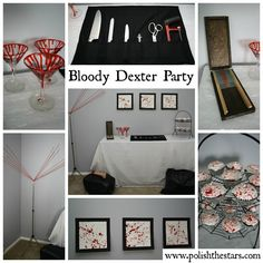 Polish The Stars: Dexter Party with DIY Tutorial Links