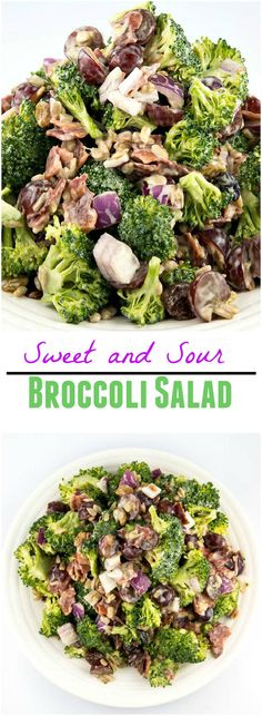 Sweet and Sour Broccoli Salad is a lip licking, tastebud approved, can I have more kind of salad.: Sweet and Sour Broccoli Salad is a lip licking, tastebud approved, can I have more kind of salad.