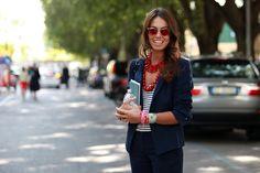 Love Viviana Volpicelli!  Milan Fashion Week. And those shades!