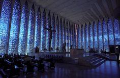 Windows in the Dos Bosco chapel in Brasilia.