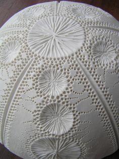 Porcelain ~ Mairi Stone Detail of urchin bowl