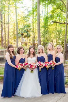 Bridesmaids in Navy|