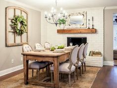 I love the look of this table with its older less formal influences and the more traditional chairs.