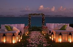 i've always dreamed of an evening wedding and i see it is possible:)