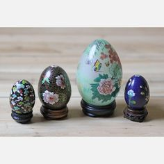 Cloisonné Eggs Set Of 4 now featured on Fab.