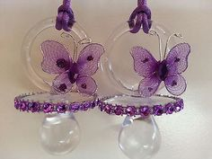 Details about 12 Purple Butterfly Pacifier Necklaces Baby Shower Game Girl Favors Prizes Decor - Baby Shower Decor Girl Baby Shower Decorations, Girl Decor, Baby Shower Centerpieces, Bottle Centerpieces, Baby Shower Souvenirs, Baby Shower Favors, Baby Shower Games, Baby Showers, Butterfly Baby Shower