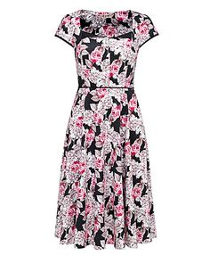 Joe Browns Colourful Coral 50s Dress | Simply Be
