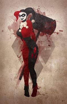 Original Giclee Art Print 'Harley Quinn' by DigitalTheory on Etsy