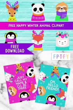 Free Happy Winter Animals Graphics - Free Pretty Things For You
