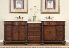 "Silkroad Exclusive Butler 90"" Double Bathroom Vanity Set & Reviews   Wayfair"