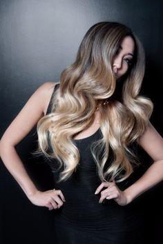 "BELLAMI HAIR Balayage 220g 22"" #1C / #18 - BELLAMI Balayage by Guy Tang - BELLAMI Celebrity Clip In Hair Extensions"