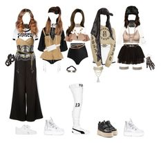 Designer Clothes, Shoes & Bags for Women Kpop Fashion Outfits, Stage Outfits, Outfits For Teens, Womens Fashion, Bts Inspired Outfits, Badass Outfit, Queen Outfit, Yellow Fashion, Cute Casual Outfits
