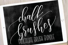 4 Procreate Chalk Brush Bundle