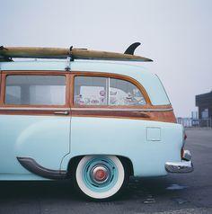 53 Chevy blue surf-mobile | @SingleFin_