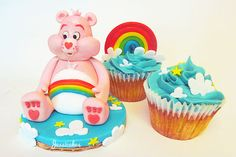 Care Bears #cupcakes  by thesearejessicakes