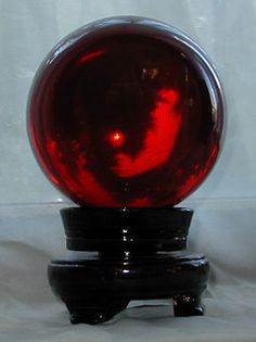 ruby crystal balls | 110mm Ruby Red Crystal Ball